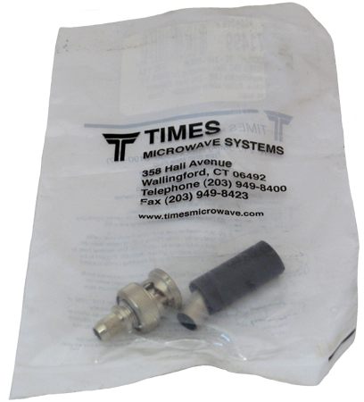 "Times Microwave Systems ""BNC"" Male Inline Connector"