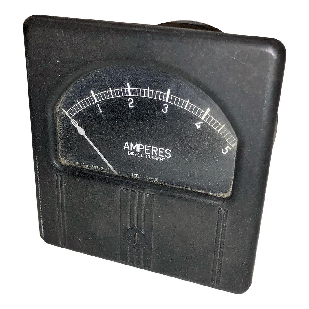 """EIL GE Panel Meter 0-1.0 Milliamperes 2-1//4/"""" x 1/"""""""