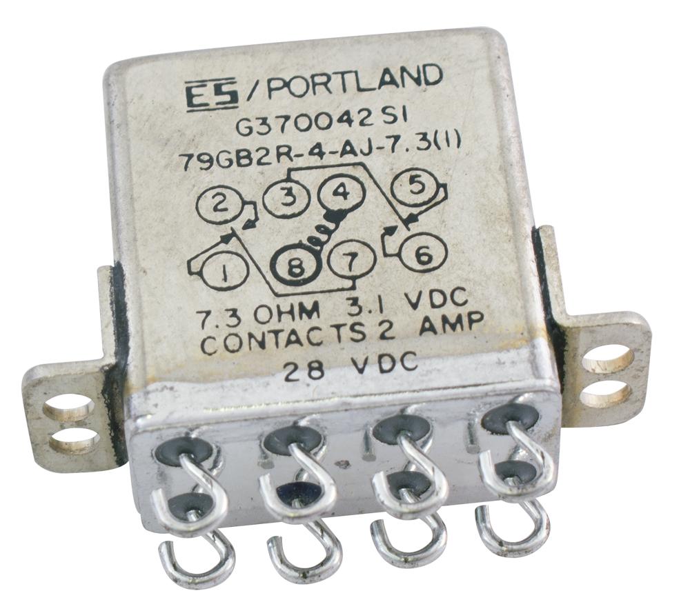 Crystal Can Relays Dpdt Relay Dc Motor Es Portland Sealed Armature 31v