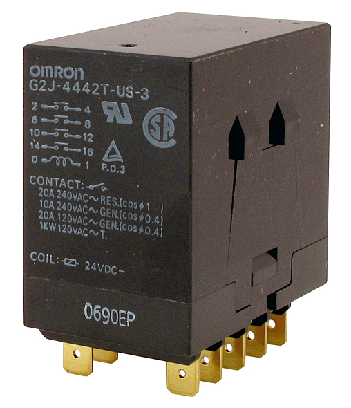 Plug In Relays Blade Contacts