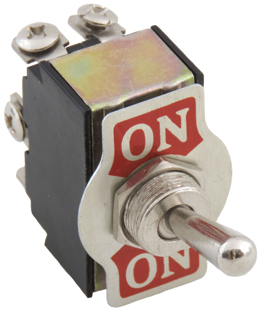 Toggle Switches 15 Amp Single Pole 2 With Back And Side Wiring White Enlarge Image Rear View