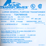 T2A-79554-3S 75KVA Dry-Type Distribution Transformer