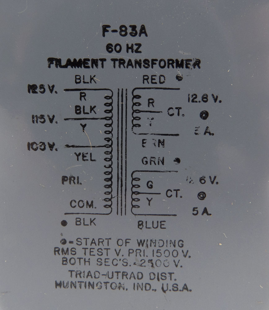 F83A Triad Filament Transformer