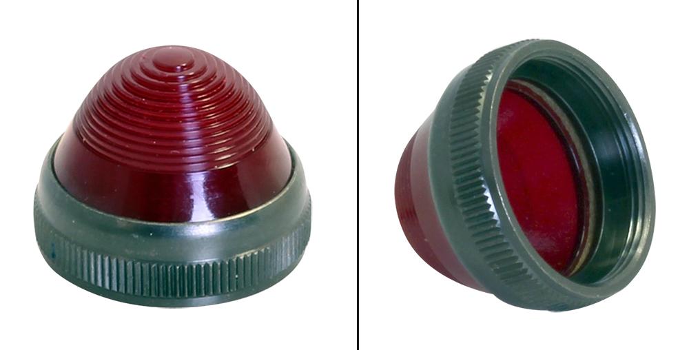 DIALCO Panel Mount Indicator 75W 125V W//24V LED Bulb Orange