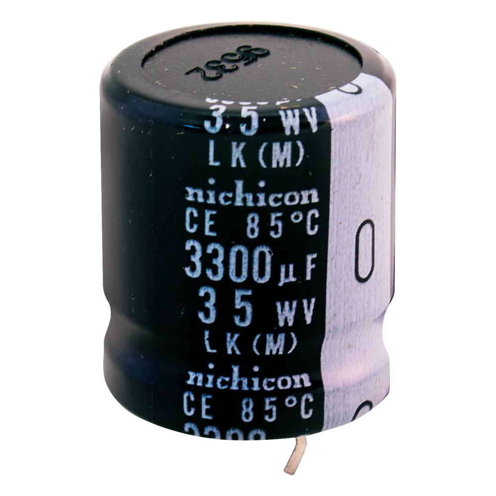 Snap-In Electrolytic Capacitor 5 pcs LLK1V332MHSZ NICHICON 3300uF 35V 85*c
