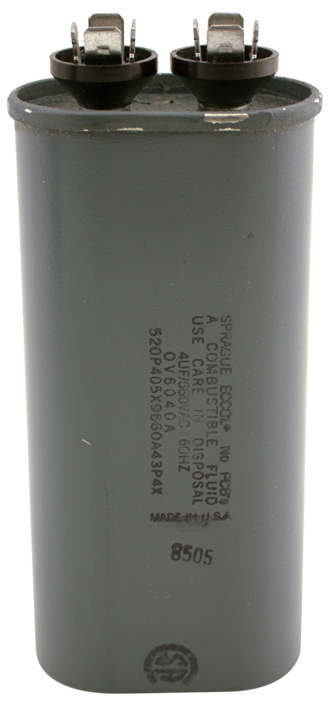 Cfo 520P405X9660A43P4X L on motor capacitor