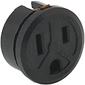 2 Pole AC Receptacle with Ground