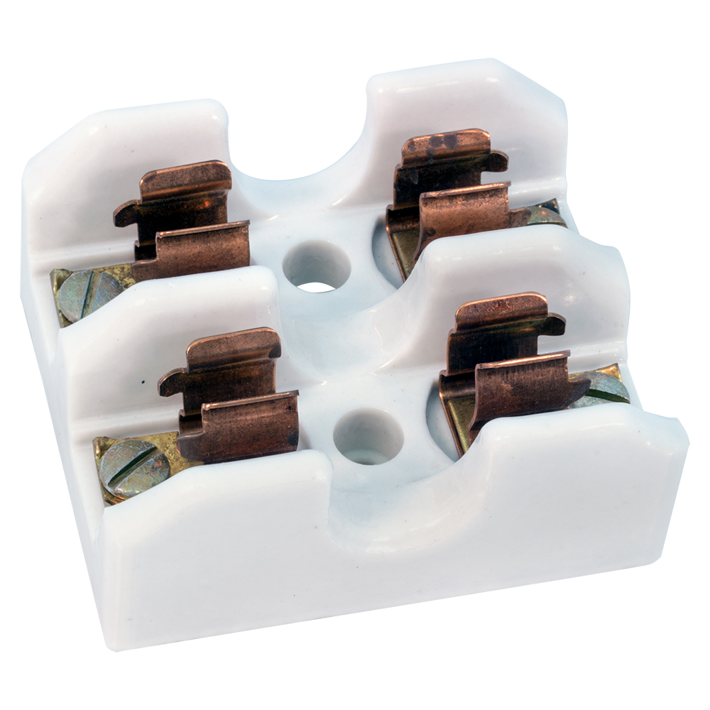 Fuse Holders Block Style Vintage Home Box Porcelain Holder