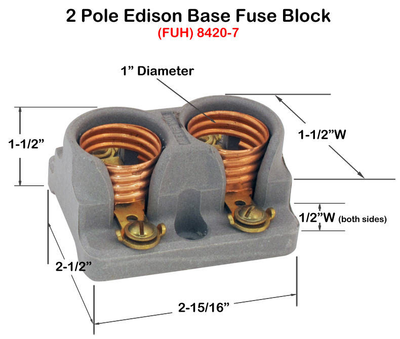 excellent fuse holders: block style rt16