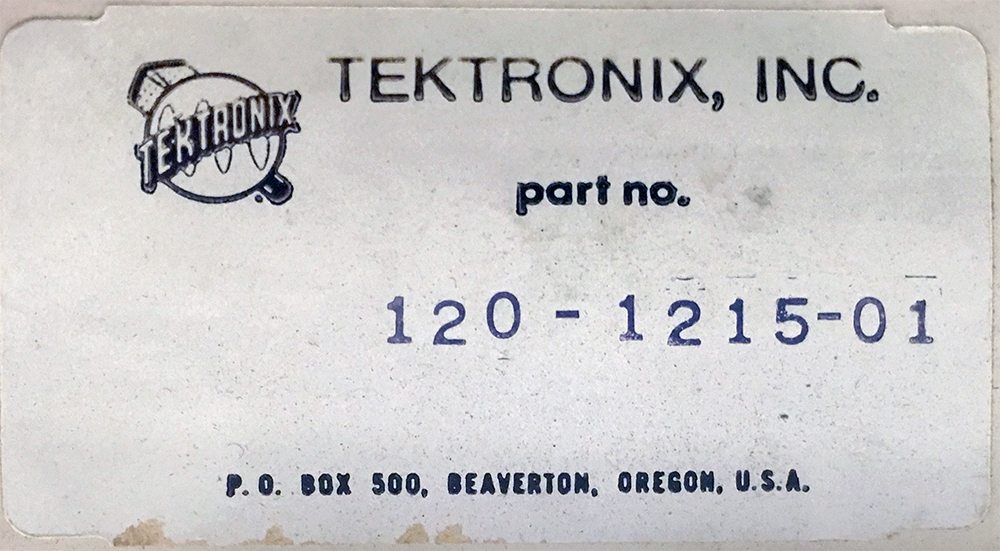 Tektronix & Hewlett Packard Parts Listed