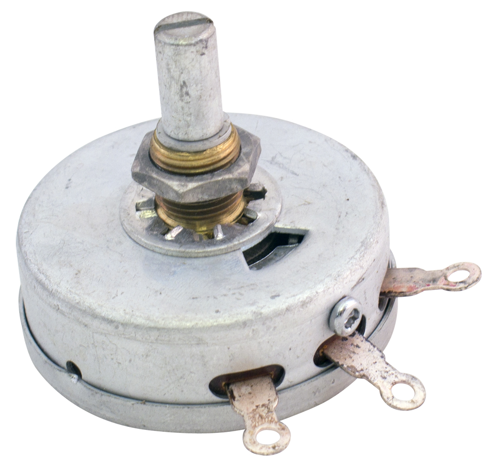 Panel Bushing Mount - Pots with Shaft, Single Turn - 0 to 299 Ohm