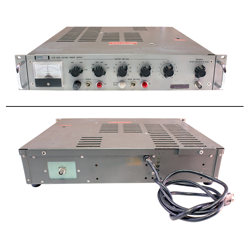 Power Supplies 21 Kv 9 And Control Supply Volt Enlarge Image Rear View Ps 415b Fluke High Voltage Dc