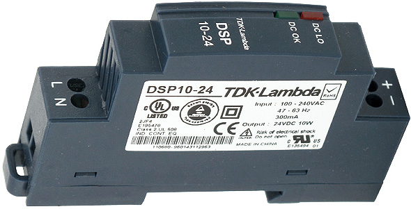 TDK-Lambda Power Supply 24v DC @ .42 amps. Enlarge Image