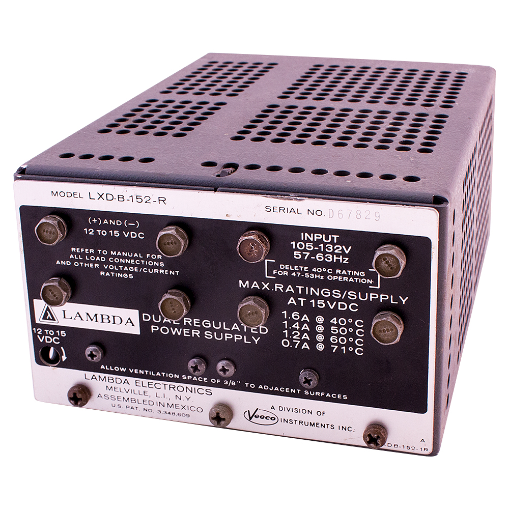 Power Supplies 3 Volt To 12 6 15 Dc Converter Lambda Supply Vdc 16 Amps Enlarge Image Rear View