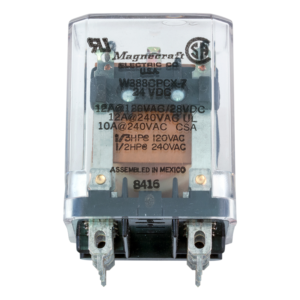 Plug In Relays Blade Contacts Dpdt Relay Wiring Diagram For Krp11ag 24v Enlarge Image