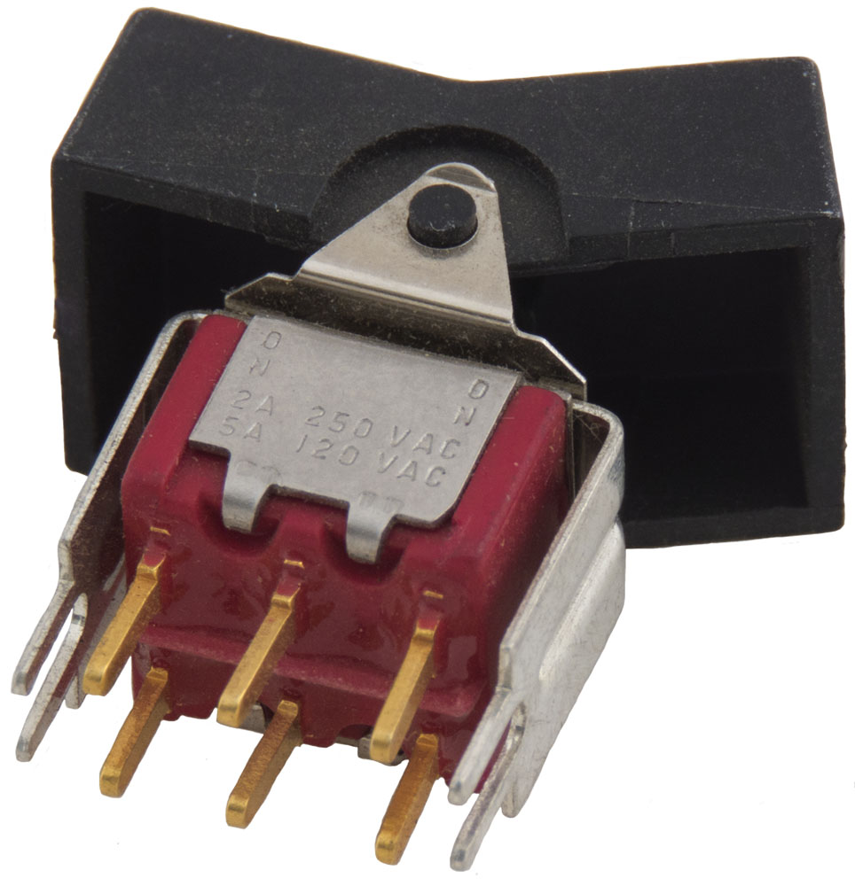 Rocker Switches Surplus Sales Of Nebraska 12 Volt Spdt Nonilluminated On Off Toggle Switch Black 1 Pc Enlarge Image